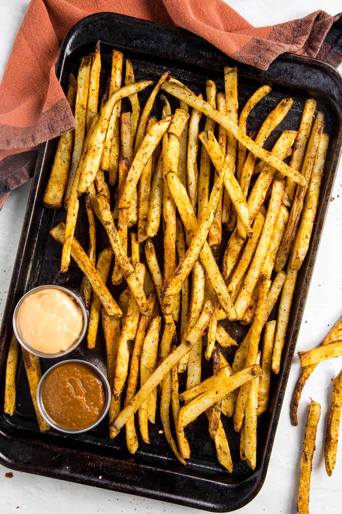 Baked Cajun Fries, just out of the oven