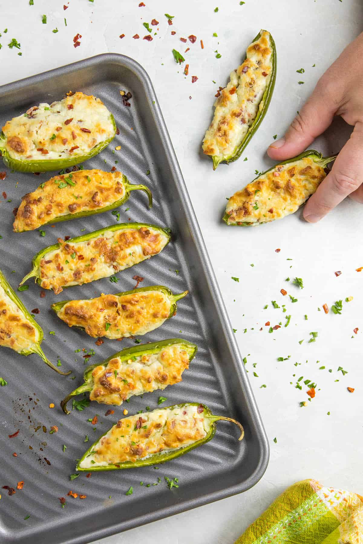 Blue Cheese and Bacon Stuffed Jalapeno Poppers