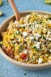 Elotes Salad Recipe (aka Mexican Corn Salad)