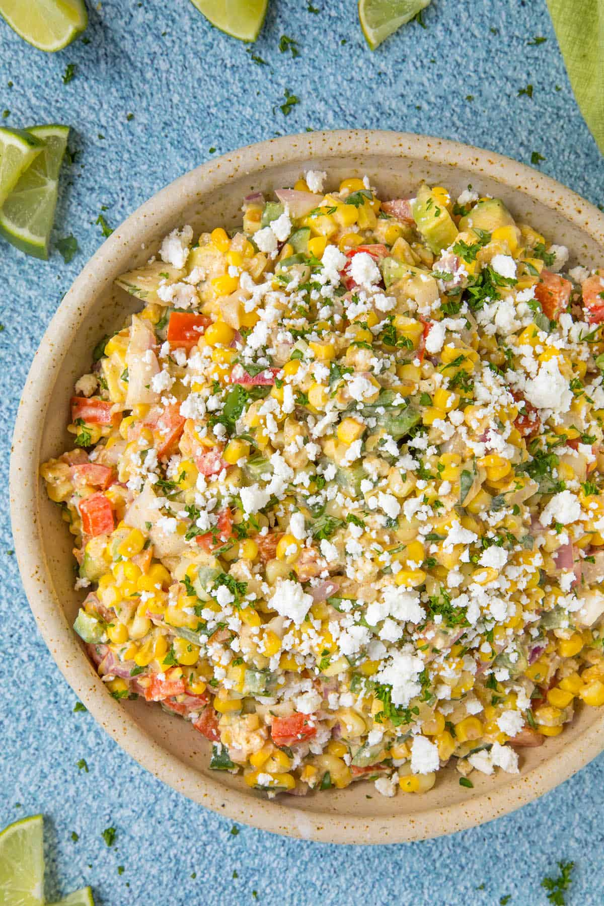 Elotes Salad in a bowl