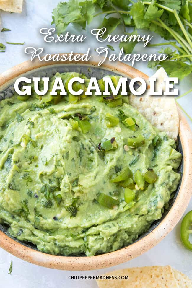 Extra Creamy Roasted Jalapeno Guacamole