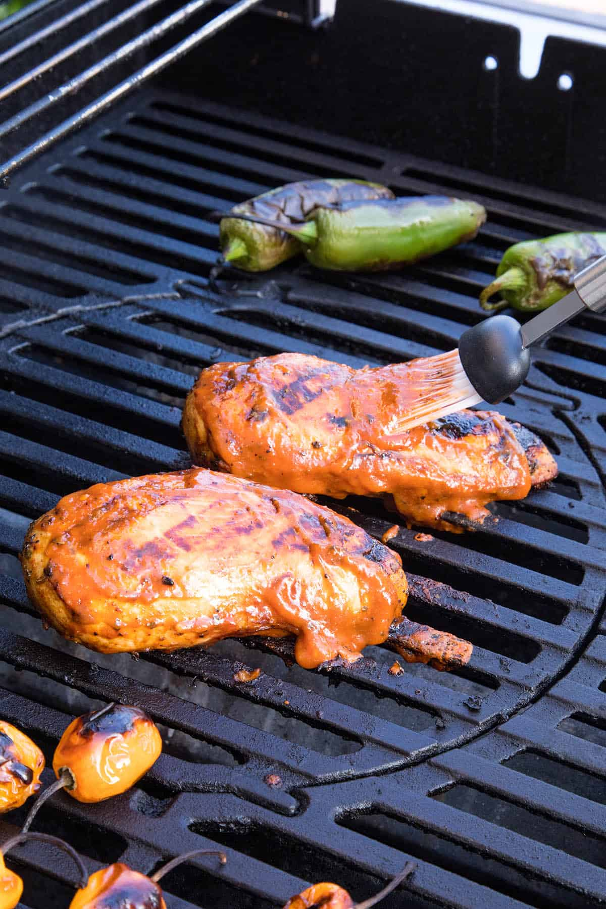 Saucing up the Mango Habanero BBQ Chicken