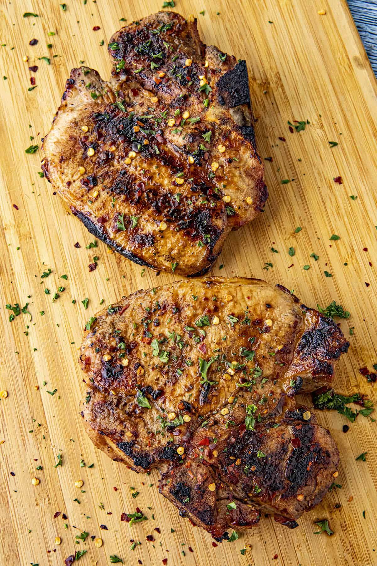 Zingy Pork Chop Marinade