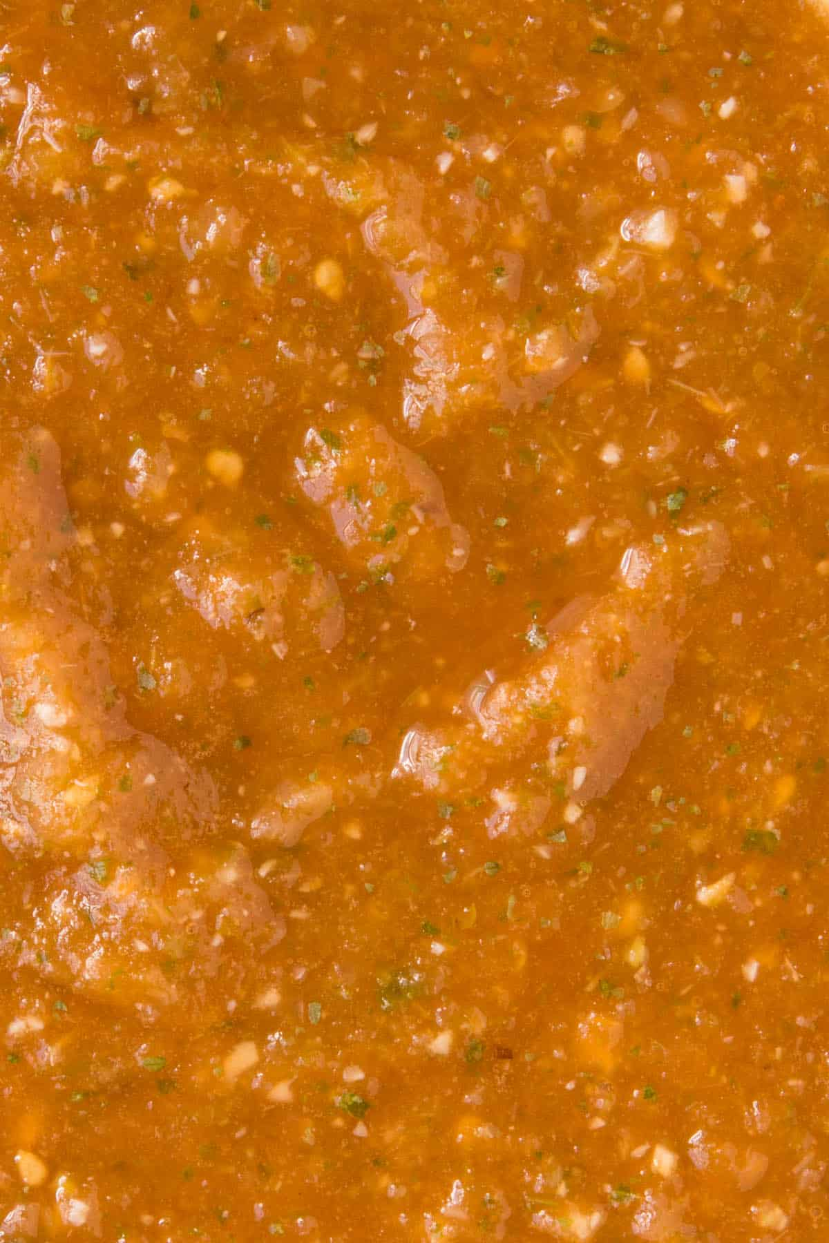 Salsa Ranchera texture, nice and thick and slightly chunky