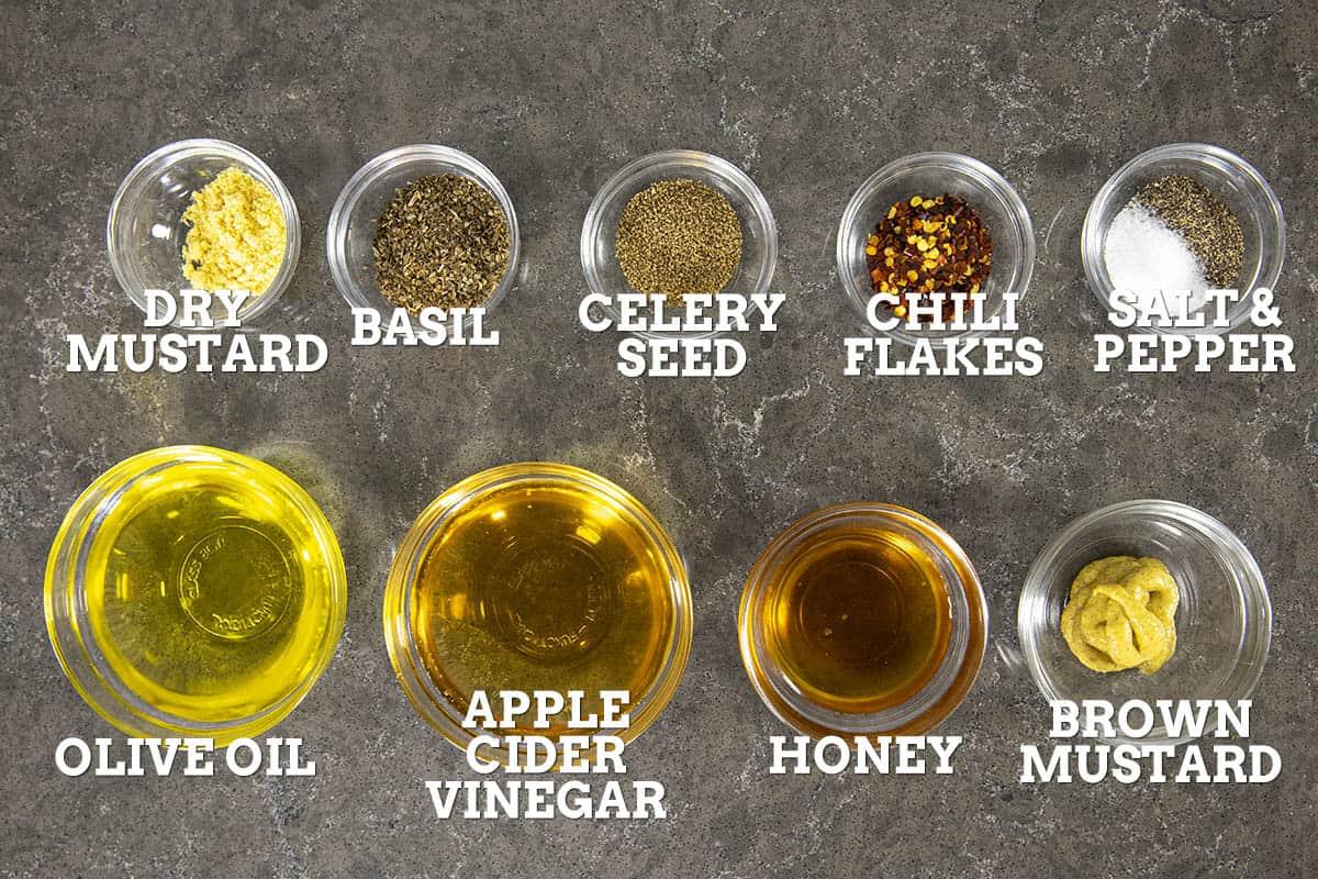 Vinegar Coleslaw Vinaigrette Ingredients