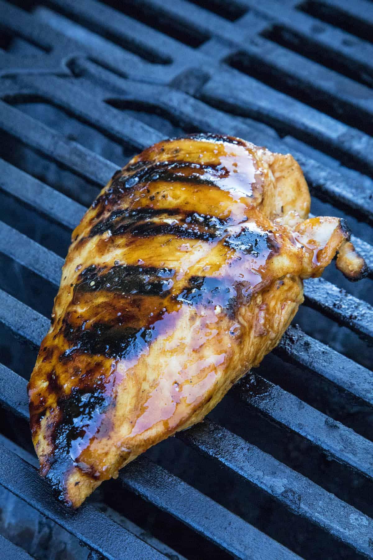 Honey Sriracha Chicken on the grill