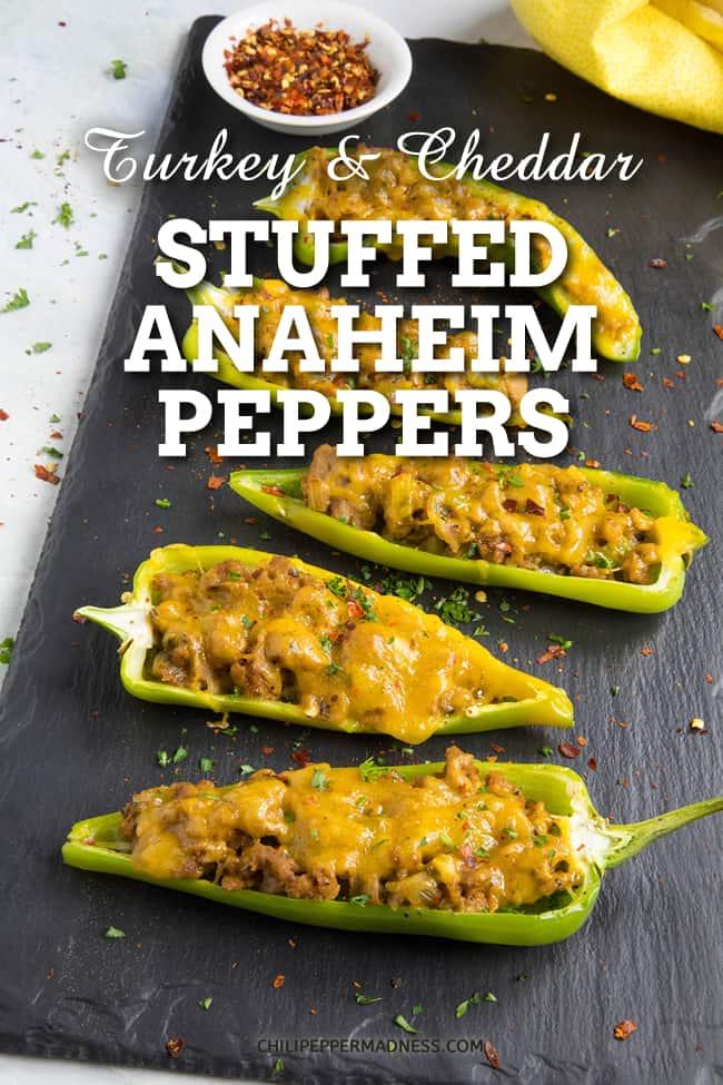 Turkey and Cheddar Stuffed Anaheim Peppers