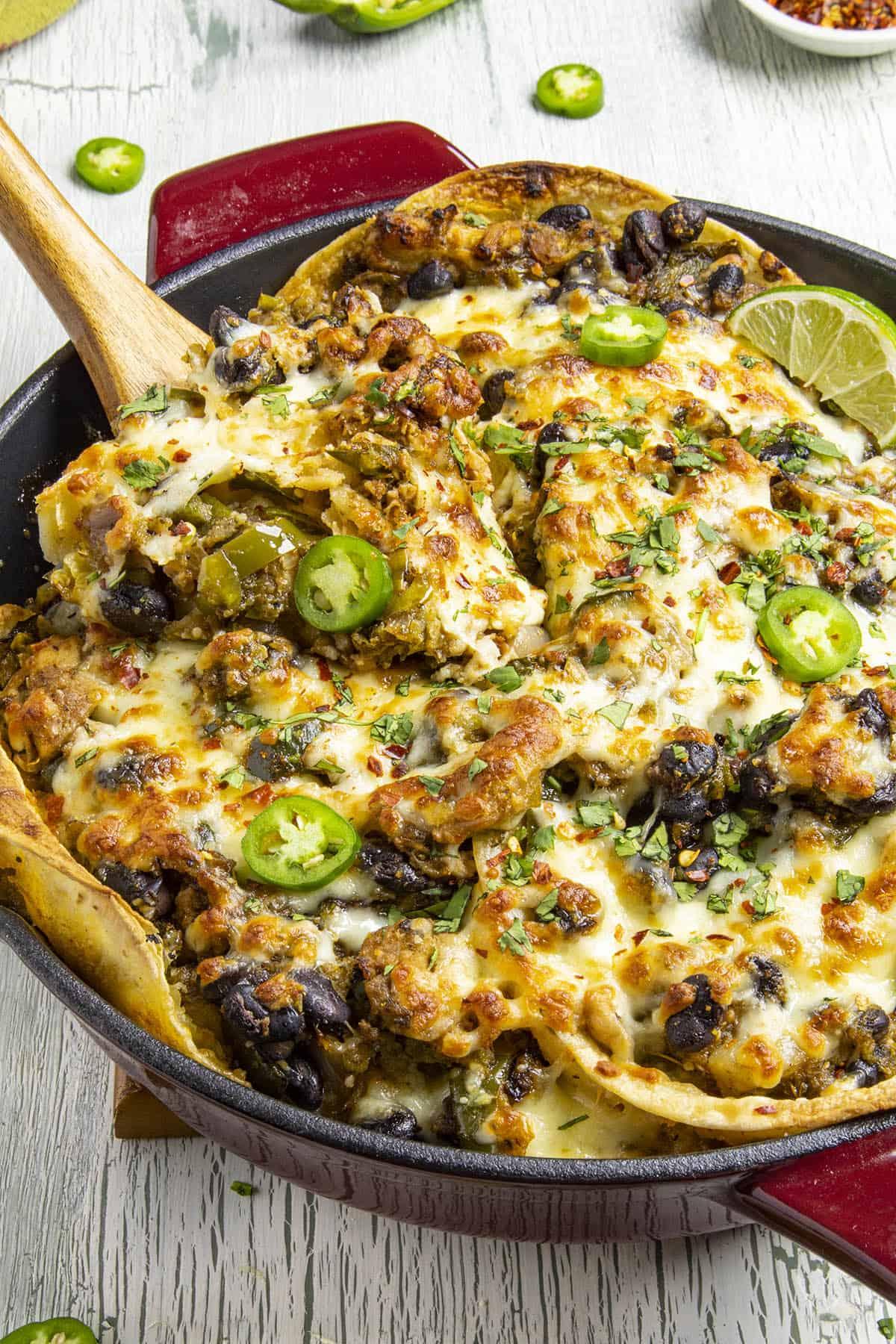 Chicken Enchilada Casserole Verde