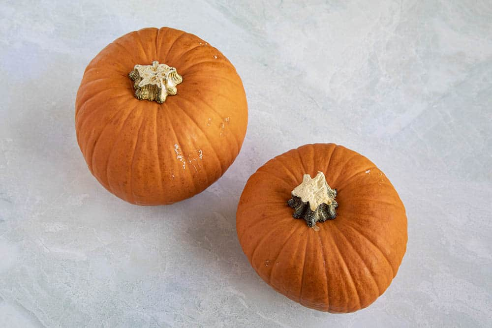 Pumpkins for this pumpkin soup recipe