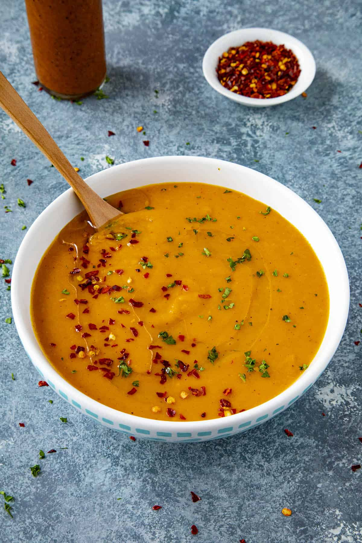 Cajun-Style Carrot Soup in a bowl