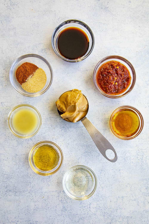 Ingredients to make my Easy Thai Peanut Sauce Recipe