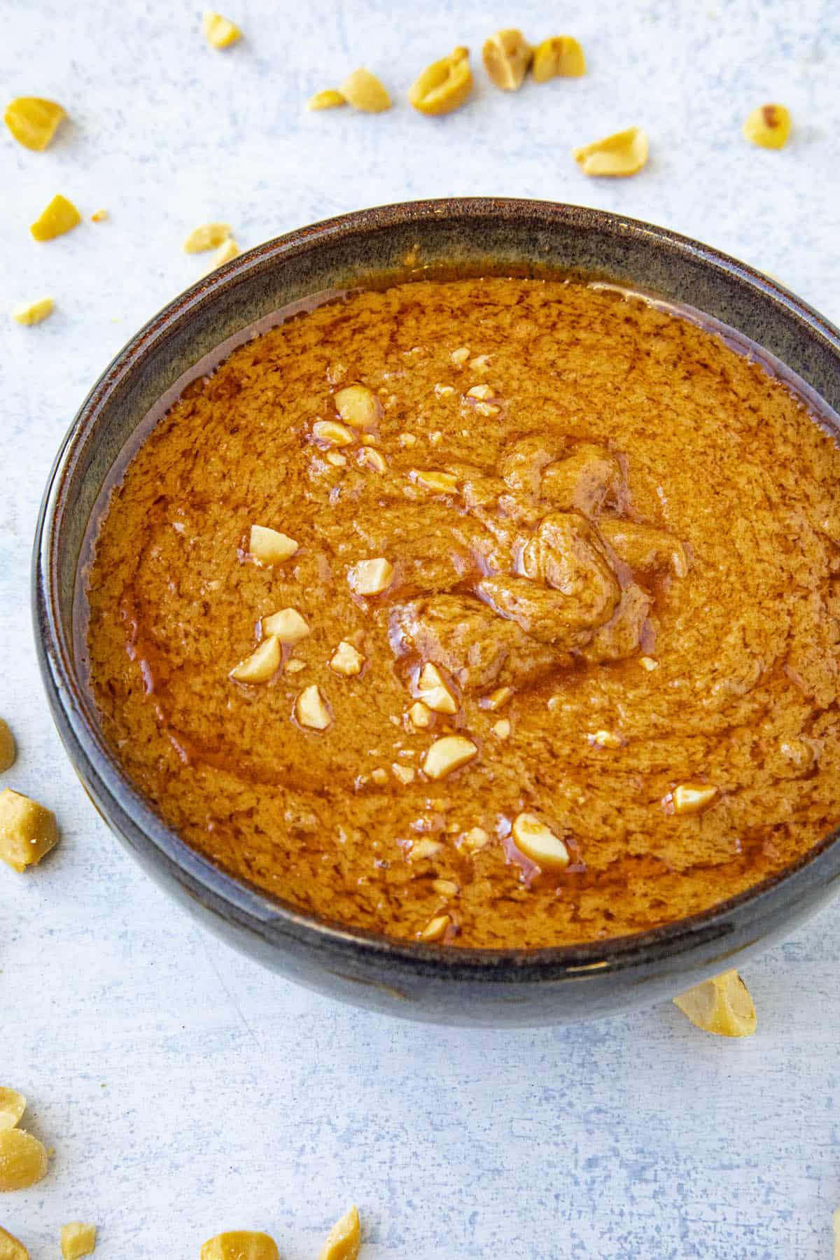 Easy Thai Peanut Sauce in a bowl
