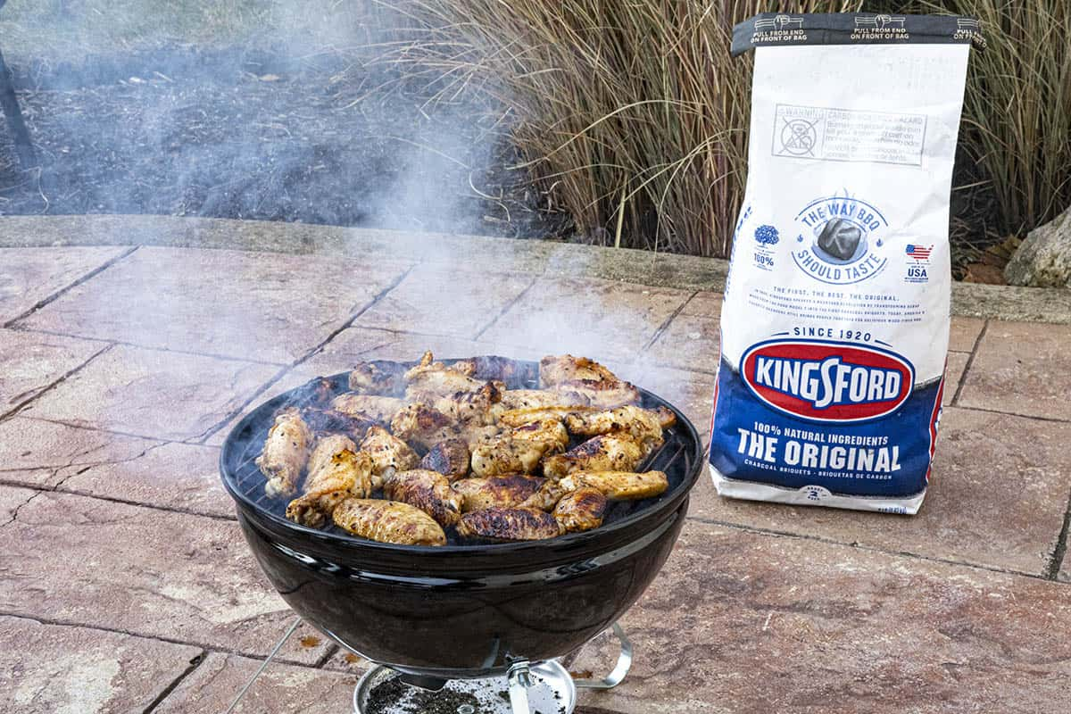 Grilling Chicken Wings with Kinsford Charcoal