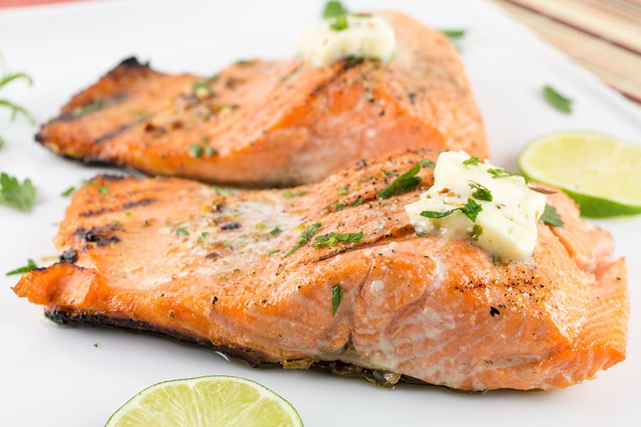 Grilled Steelhead Trout Recipe, ready to serve