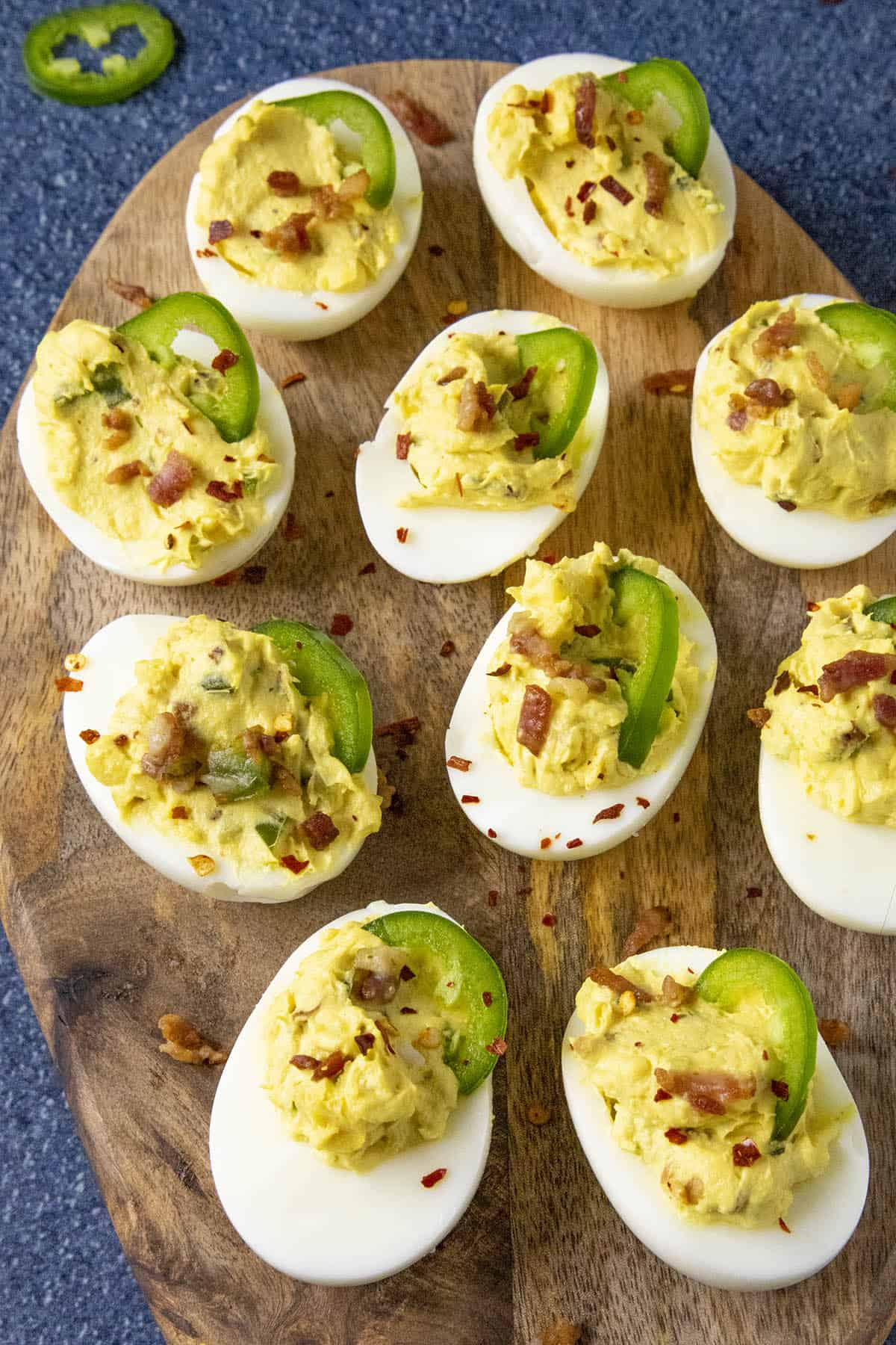 Spicy Deviled Eggs With Bacon And Jalapeno Chili Pepper Madness