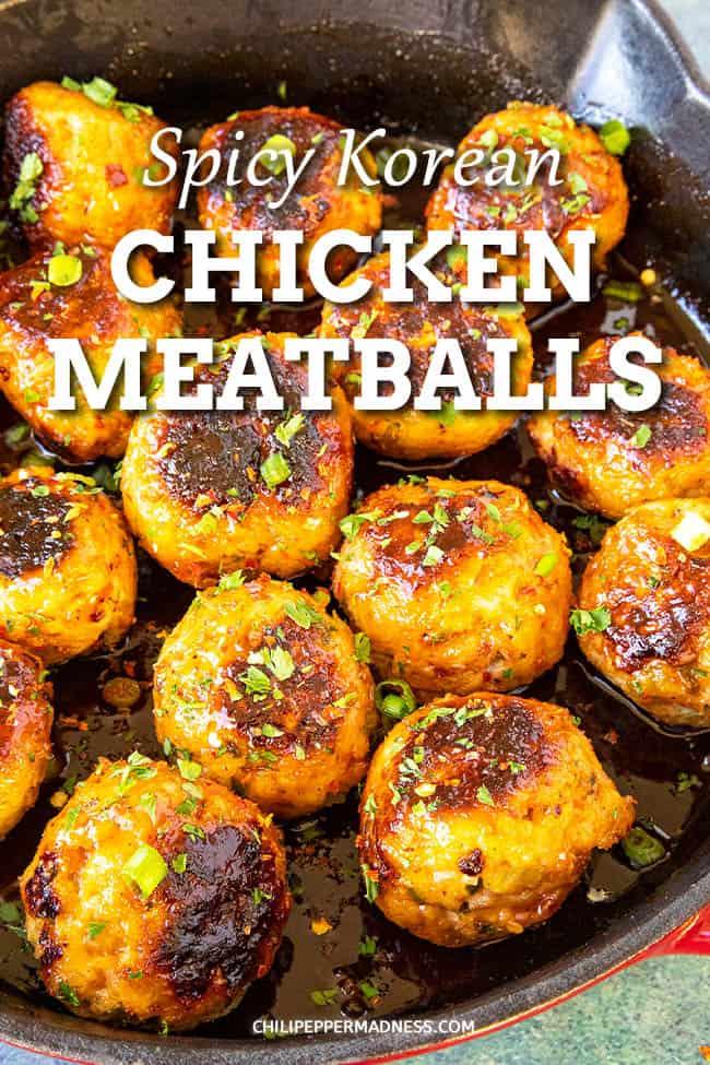 Spicy Korean Chicken Meatballs