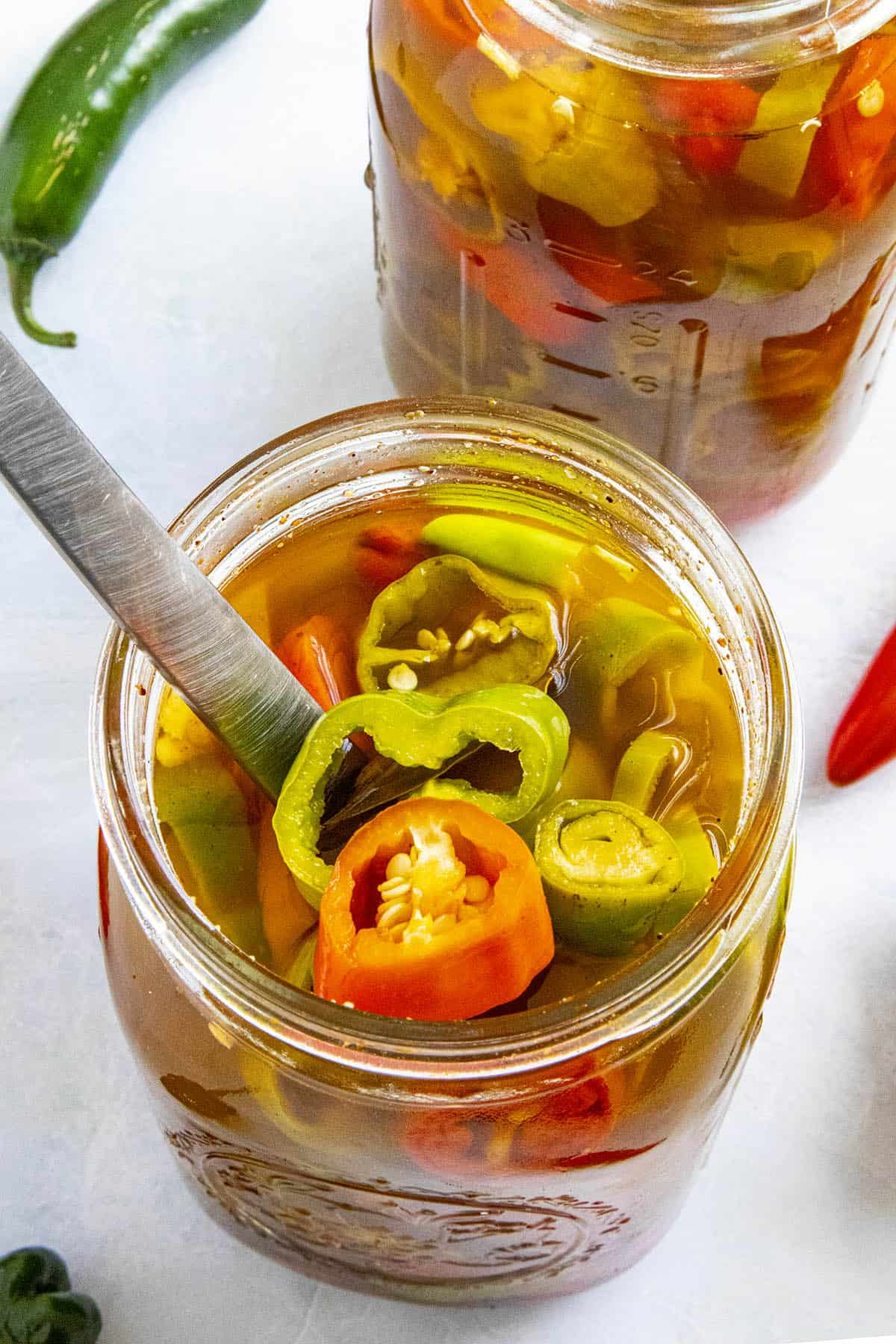 Cajun Pickled Peppers