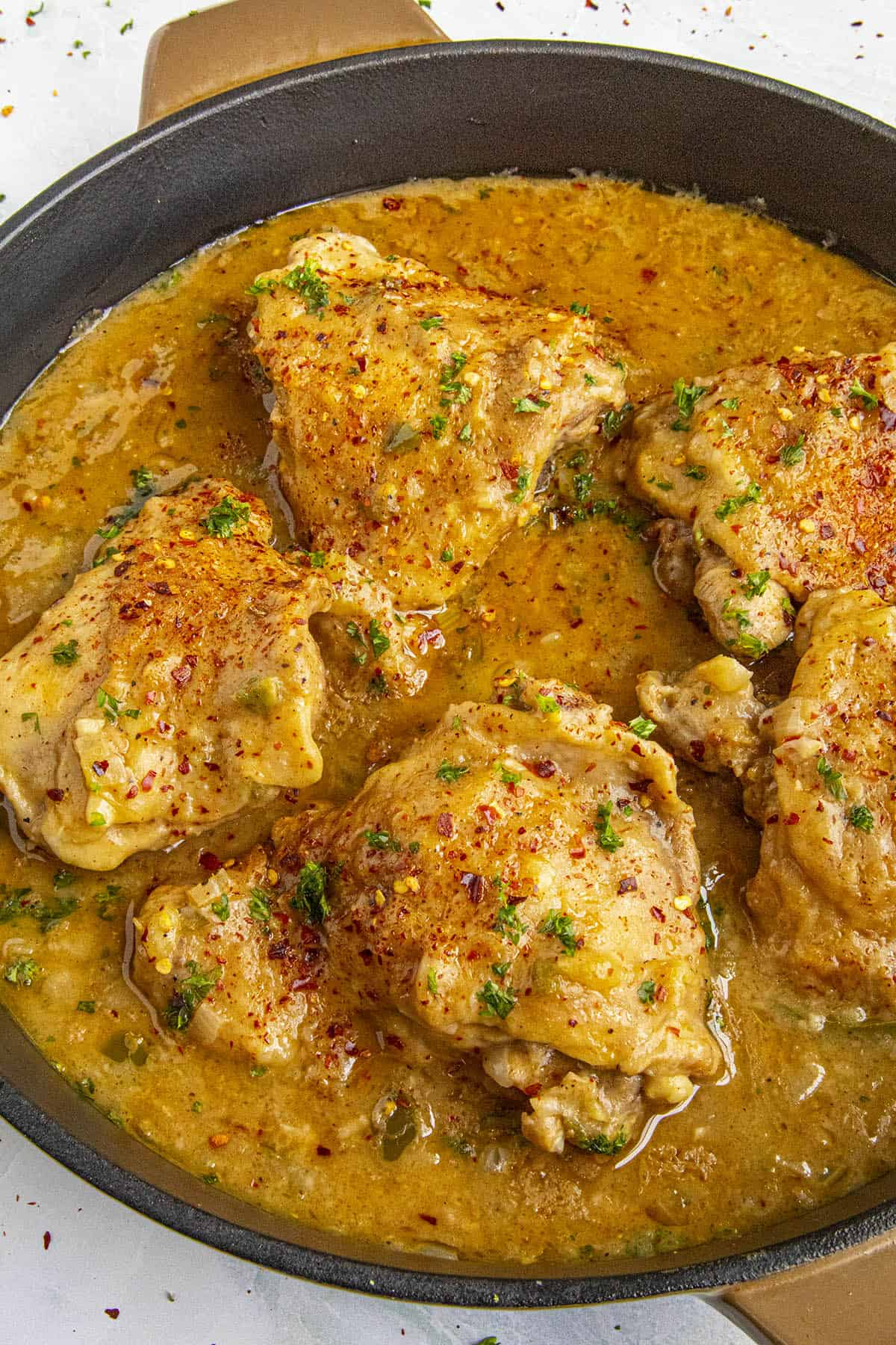 Chicken Fricassee in a pan