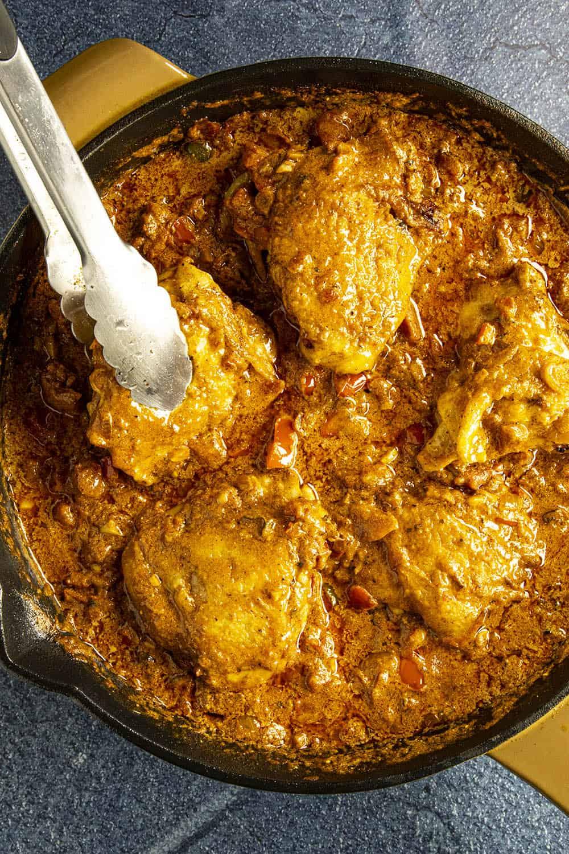 Serving chicken paprikash