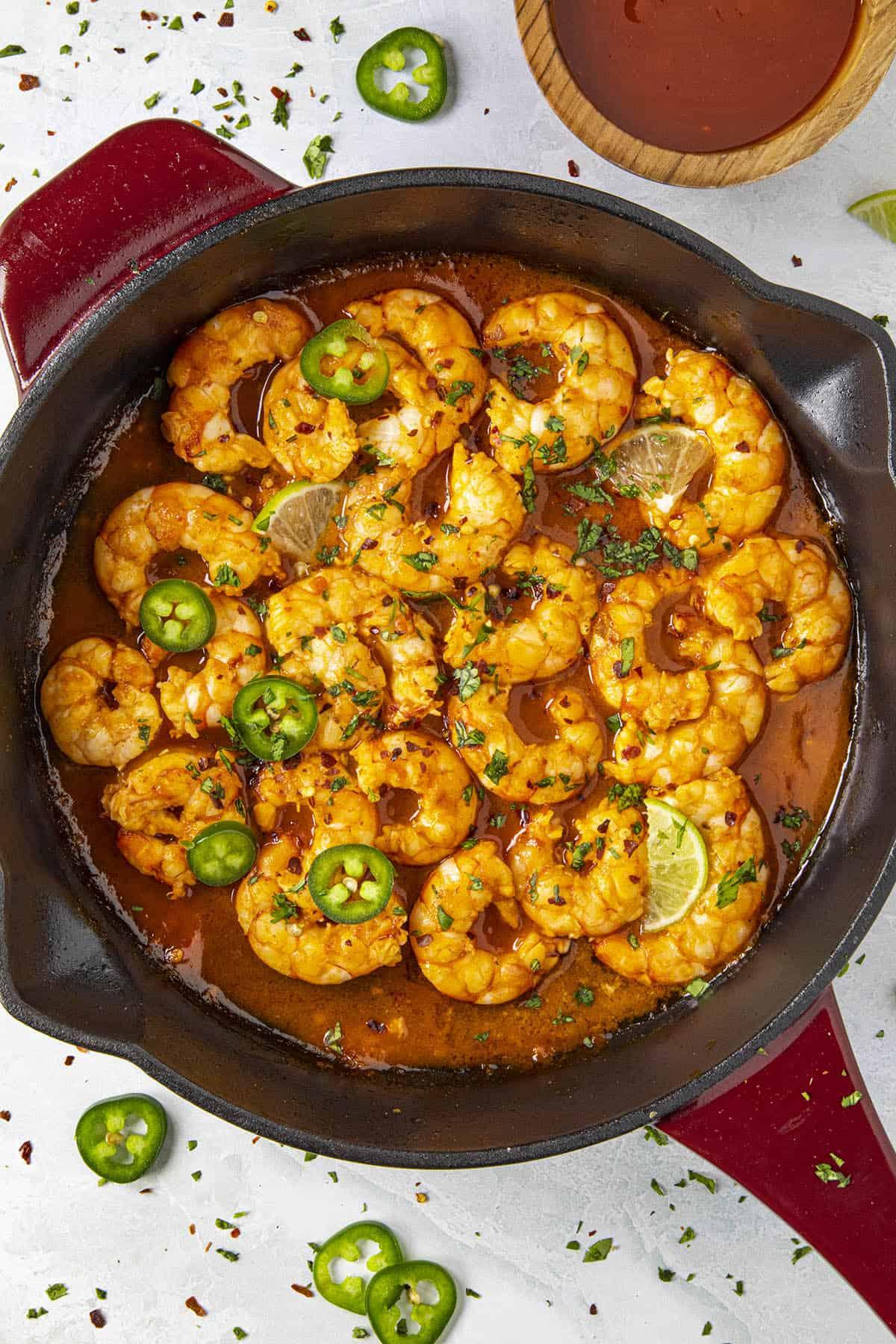 Firecracker Shrimp being served