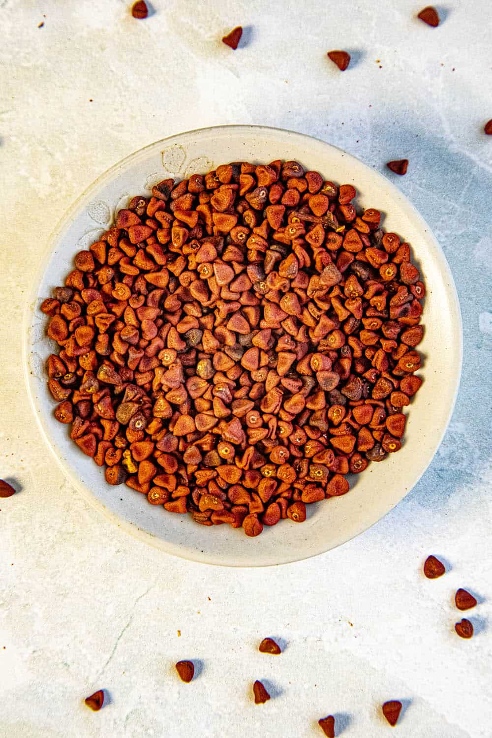 Annatto Seeds (aka Achiote) in a bowl