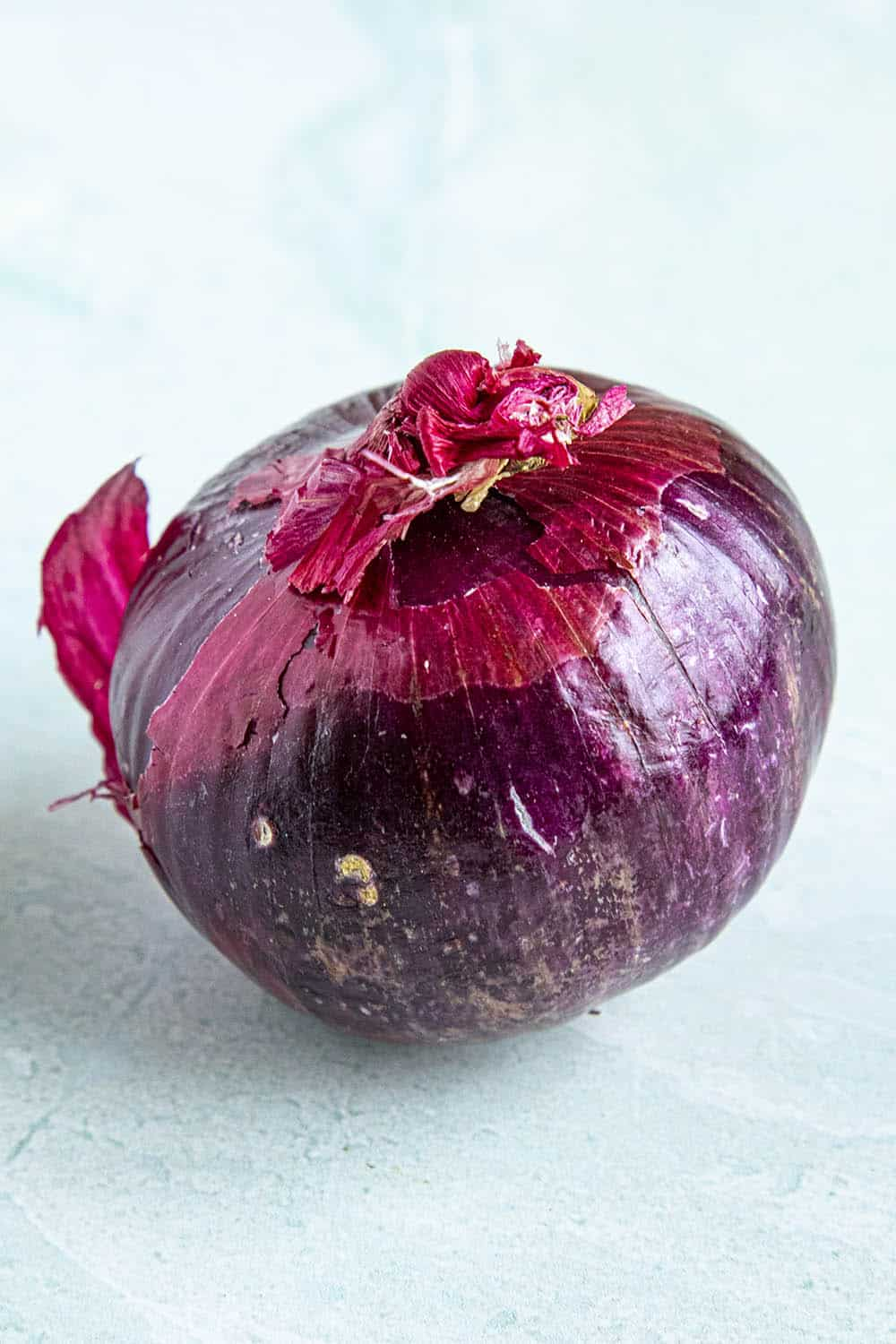 A large red onion