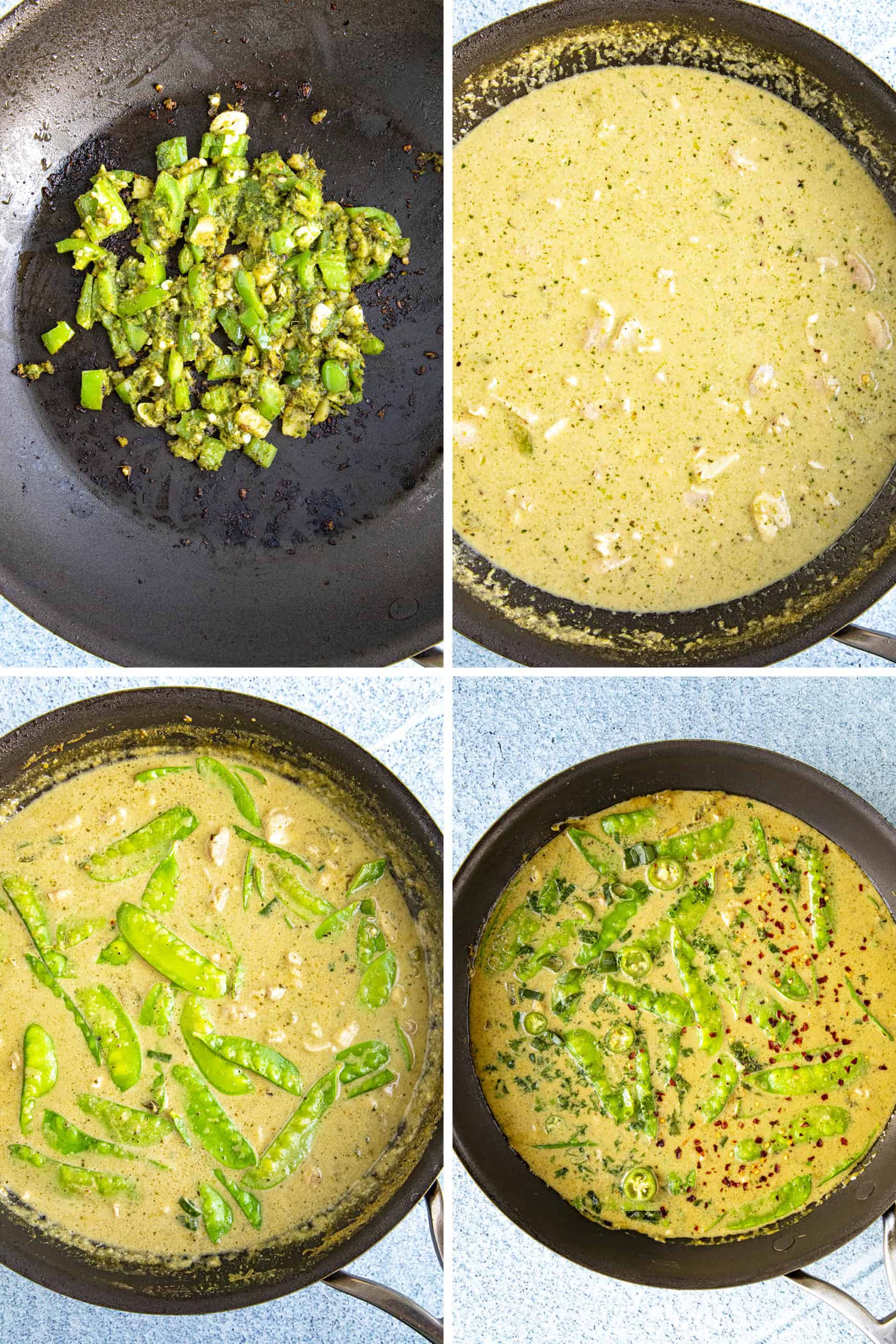 Steps to making green curry