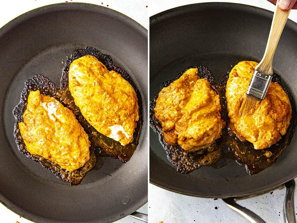 Steps for making my Baked Harissa Chicken Breast recipe
