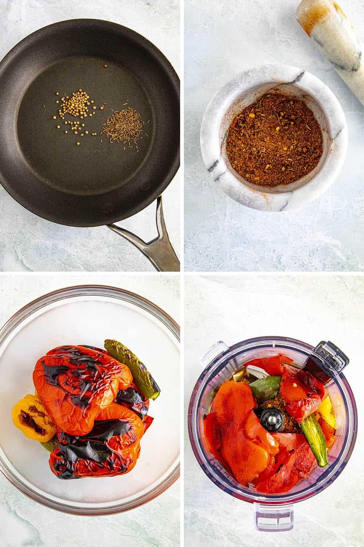 Steps for making Homemade Harissa Sauce
