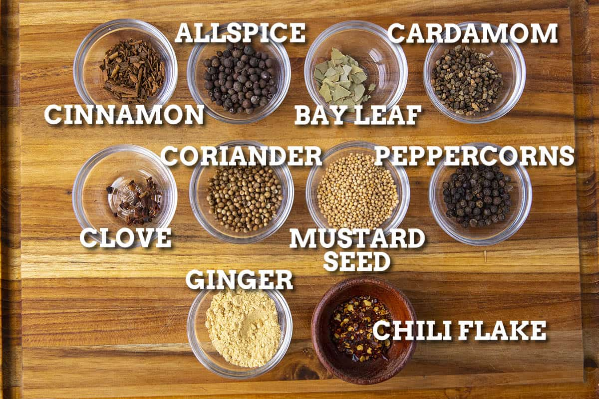Homemade Pickling Spice Ingredients