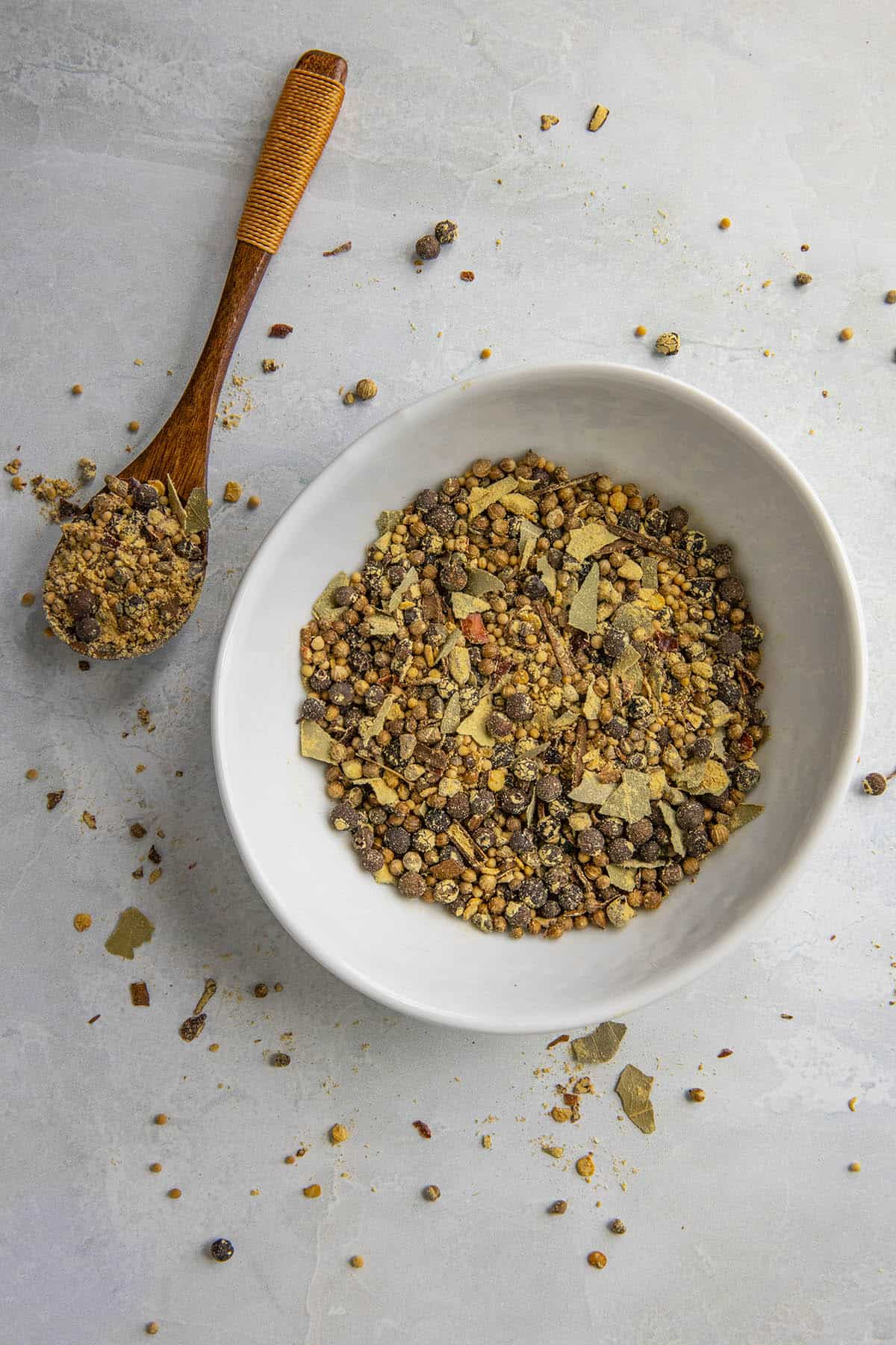 Homemade Pickling Spice with lots of seeds and seasonings