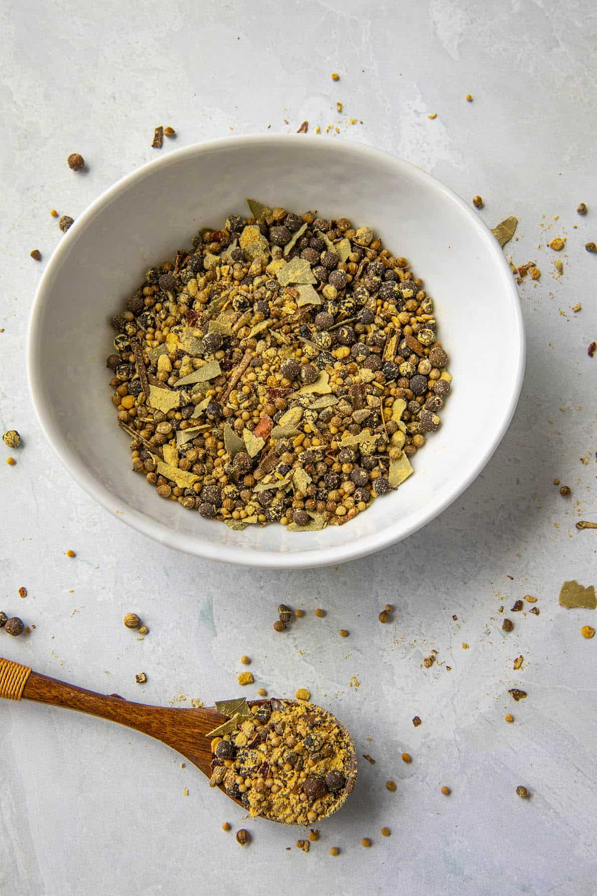 Homemade Pickling Spice in a bowl