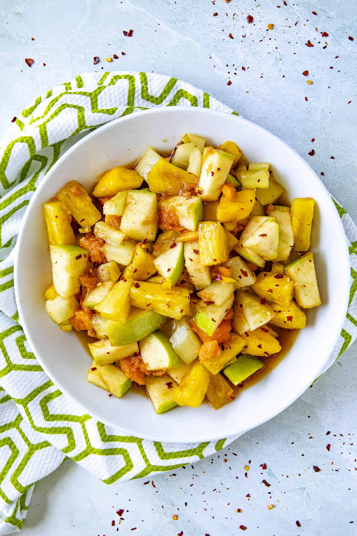 Rujak (Indonesian fruit salad) in a bowl