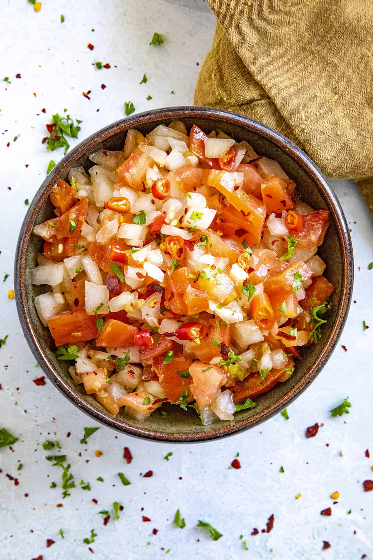 Spicy Sambal Matah in a bowl