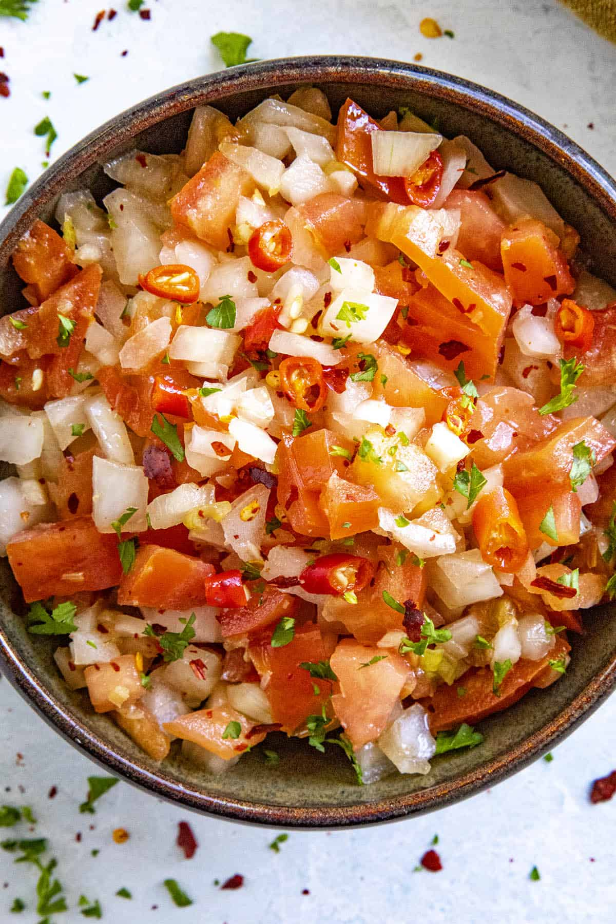 Sambal Matah in a bowl