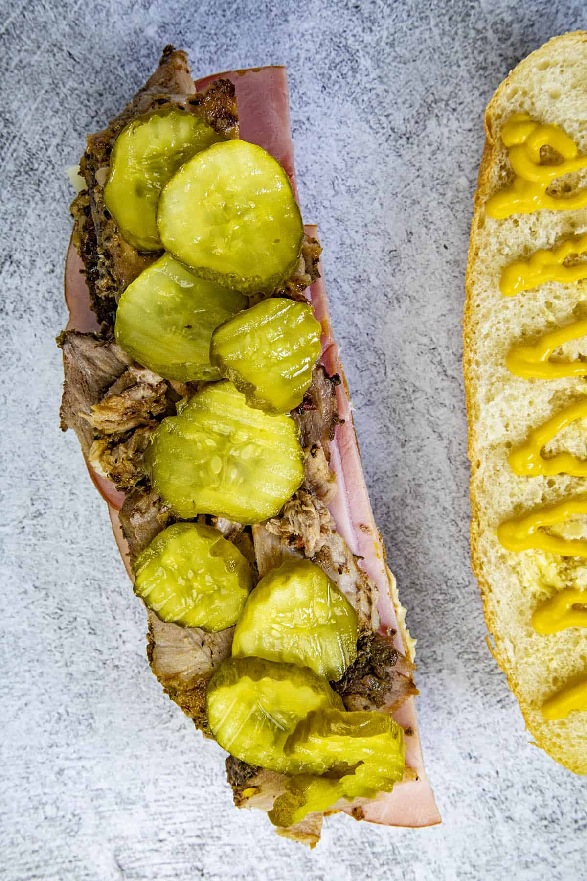 Layering up a Cuban Sandwich
