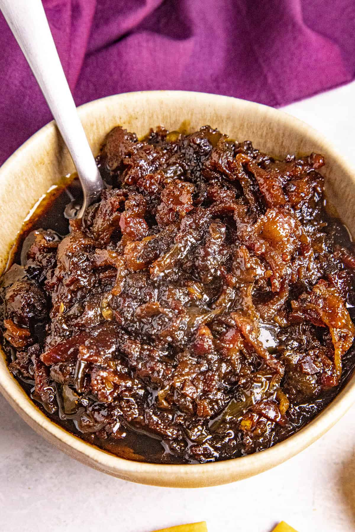 Bacon Jam in a bowl, ready to enjoy