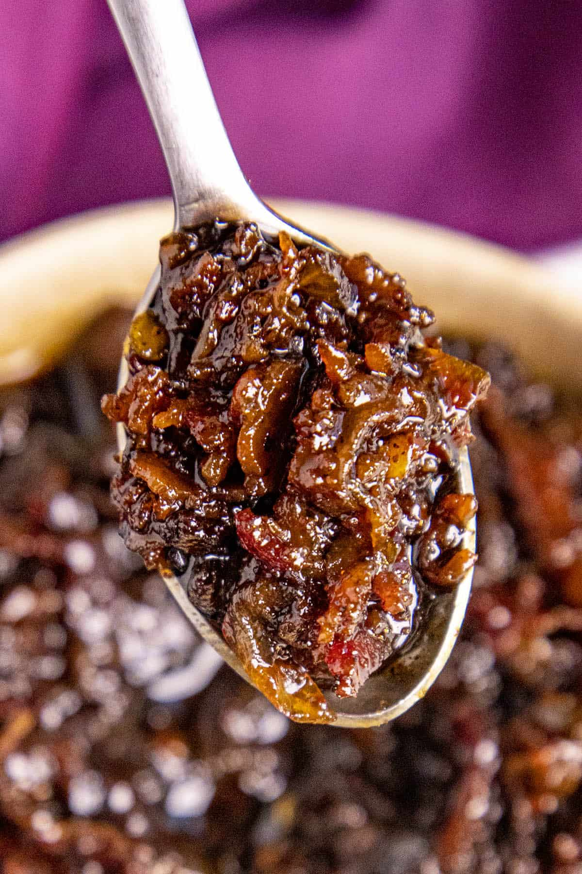 Bacon Jam on a spoon