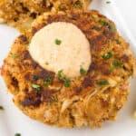 Crab Cakes with Cajun Cream Sauce