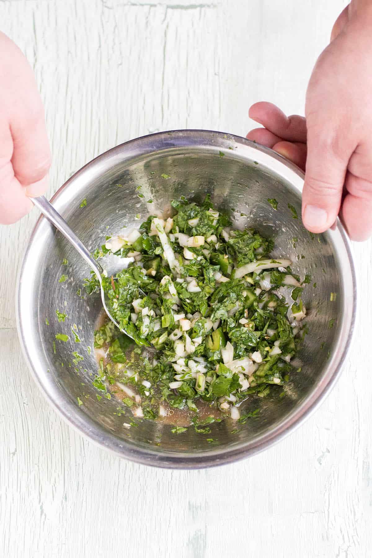 Easy Chimichurri Verde (Green Chimichurri Recipe)