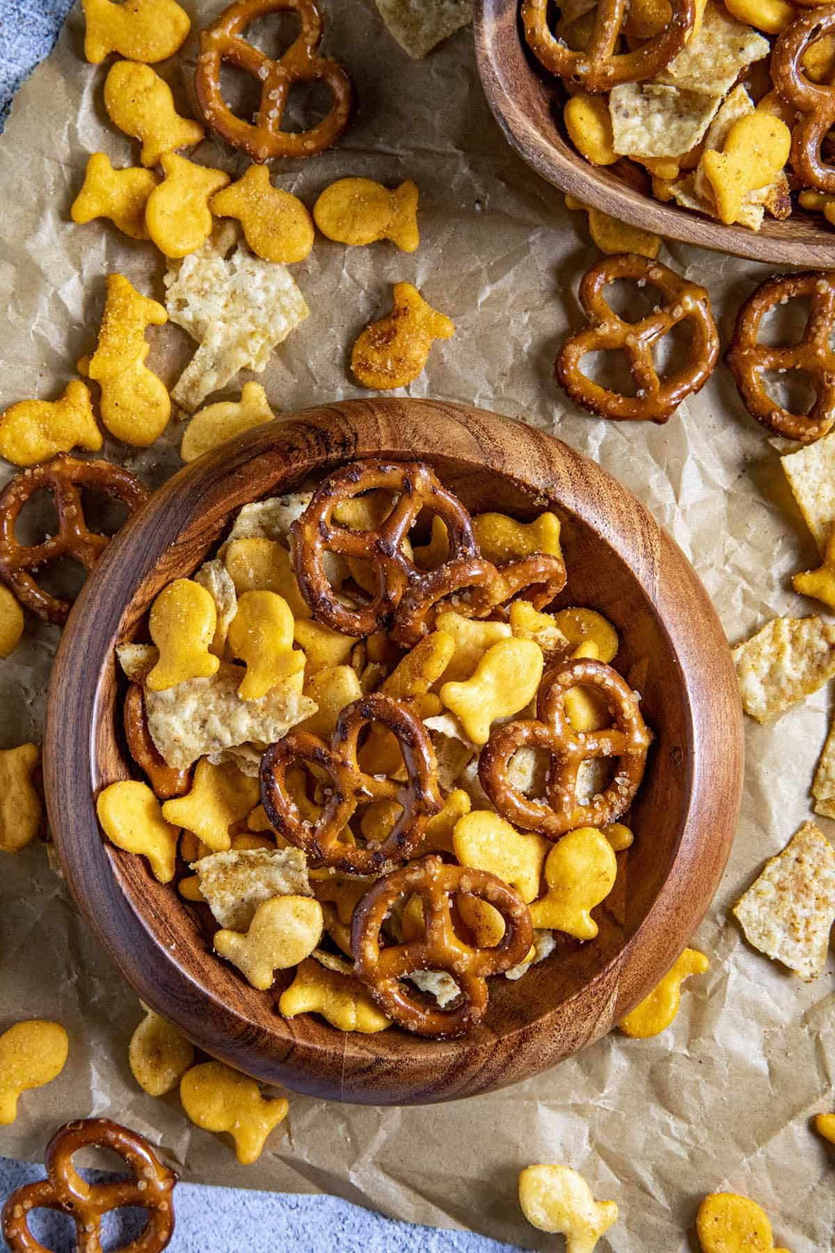 Homemade Spicy Snack Mix in a bowl