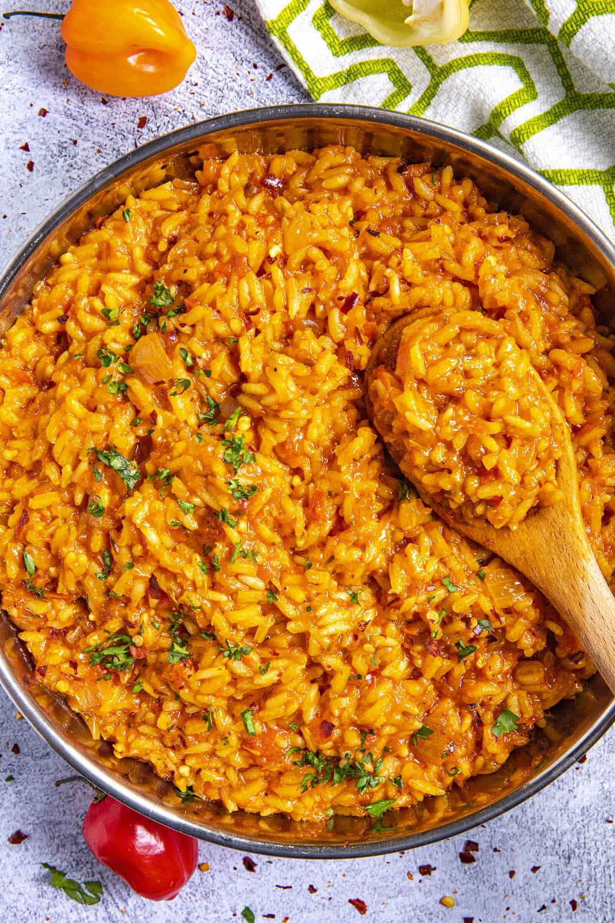 Jollof Rice in a bowl, ready to serve