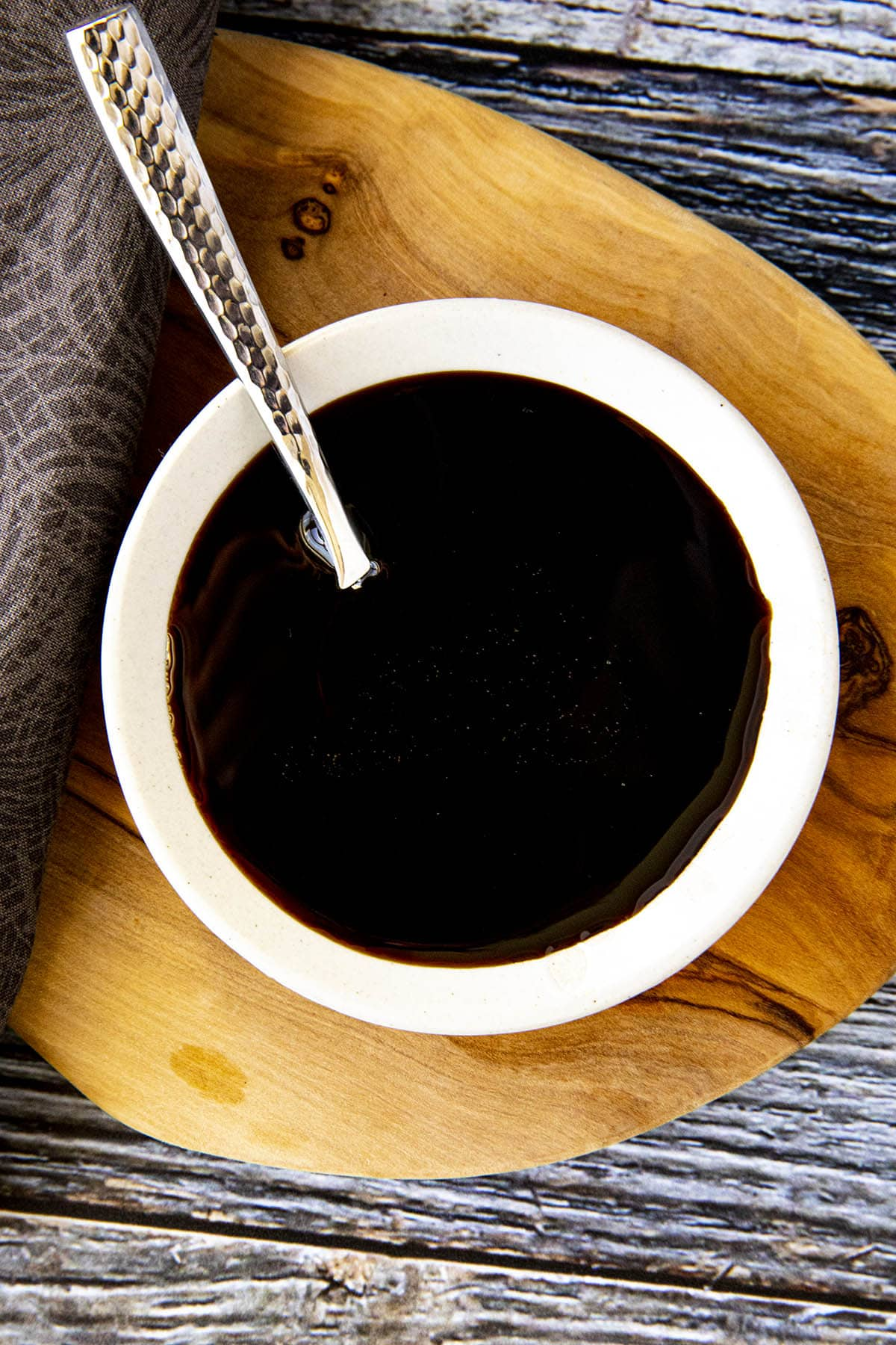 Kecap Manis (sweet soy sauce) in a bowl