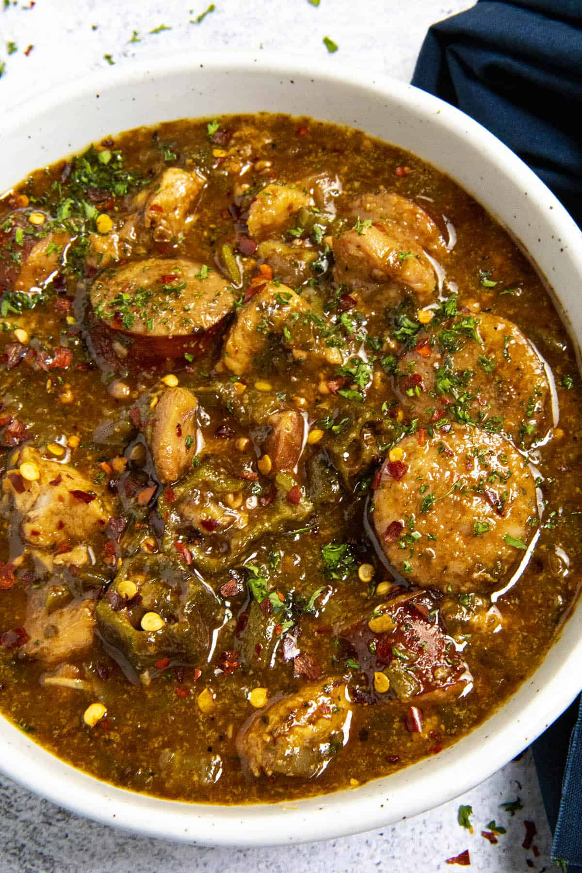 Cajun Chicken and Sausage Gumbo Recipe