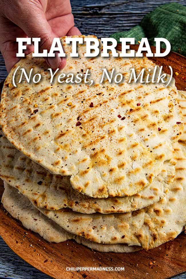 Homemade Flatbread Recipe (No Yeast, No Milk)