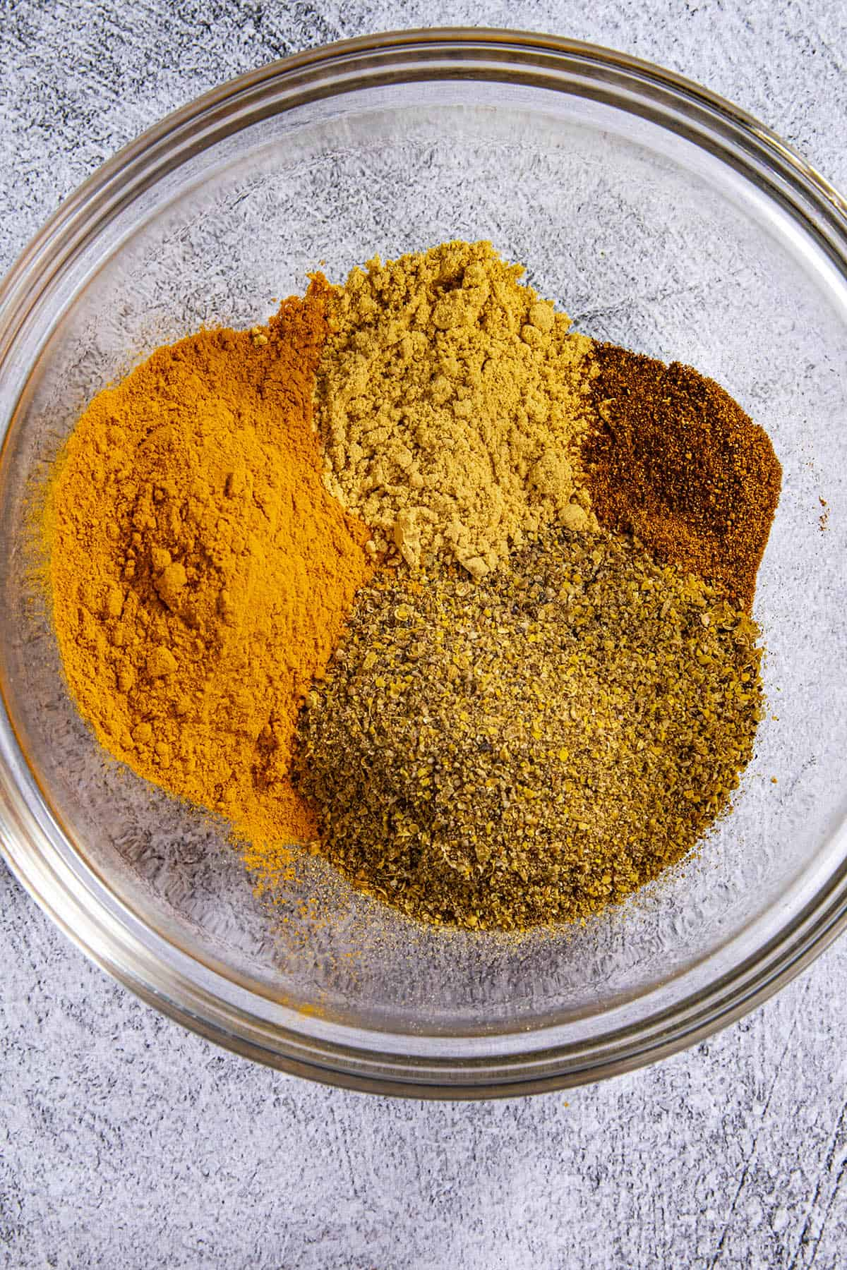 Ground Jamaican Curry Powder ingredients in a bowl