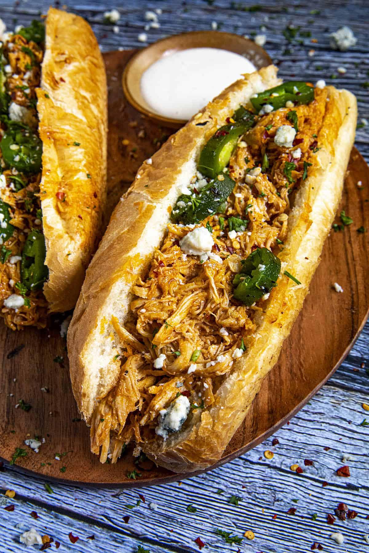 Buffalo Chicken Sandwiches, ready to serve
