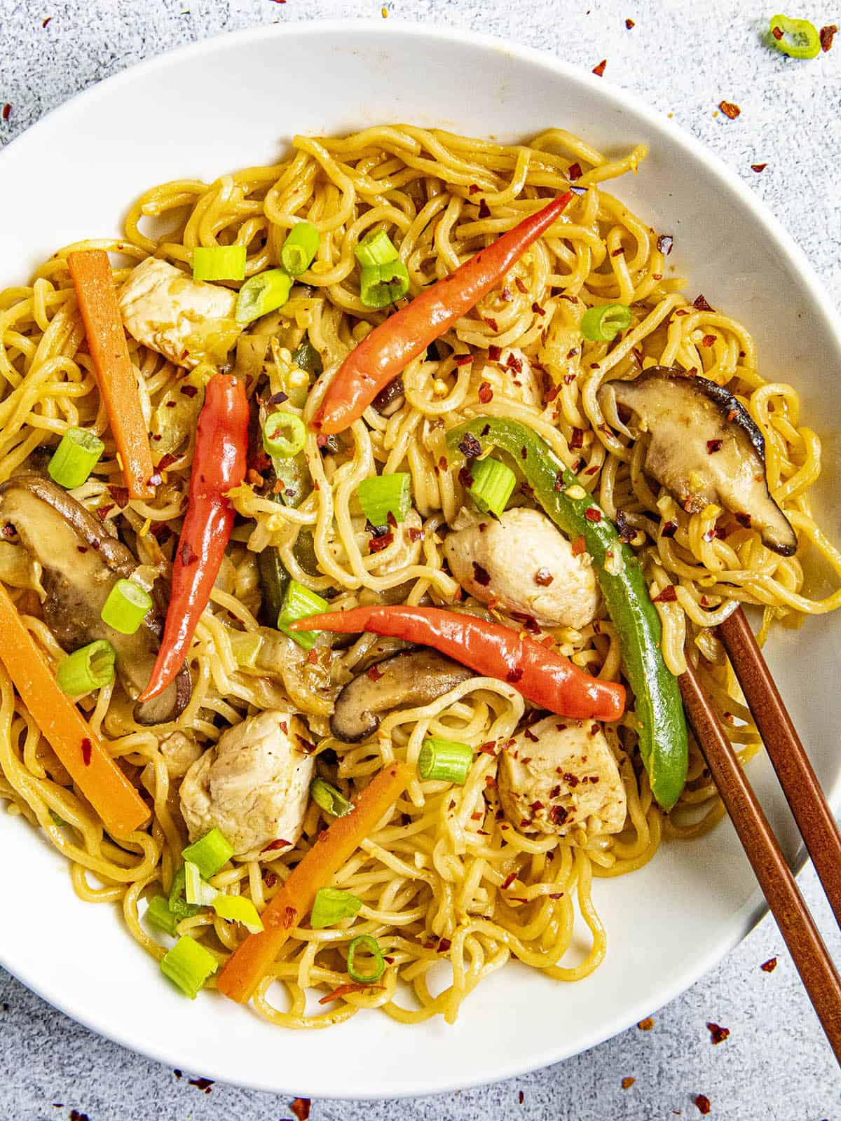 Chicken Yakisoba Recipe (Story)