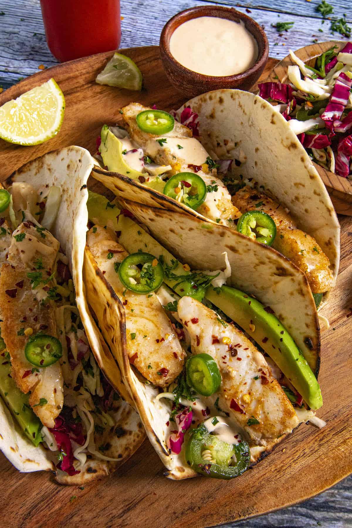 Fish Tacos ready to serve