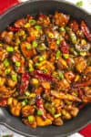 Kung Pao Chicken in a pan